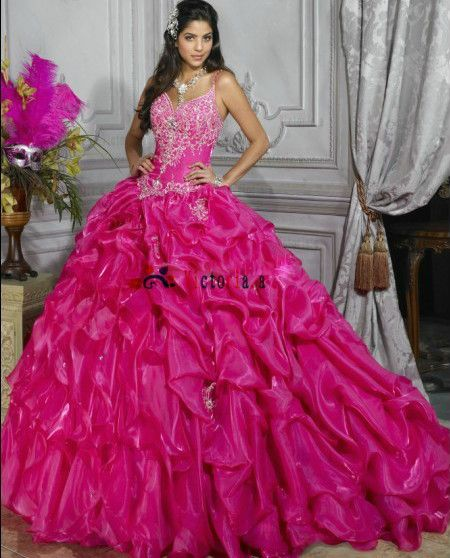 Custom Pink Quinceanera Dresses Ball Gowns Prom Dresses Size 6 8 10 12